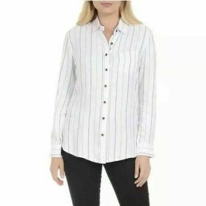 Womens Jachs Girlfriend Soft Button Down Shirt